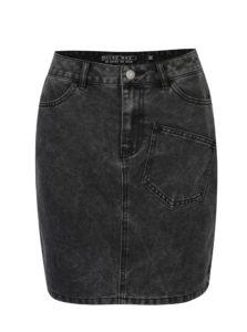 Čierna rifľová sukňa Noisy May Sophia