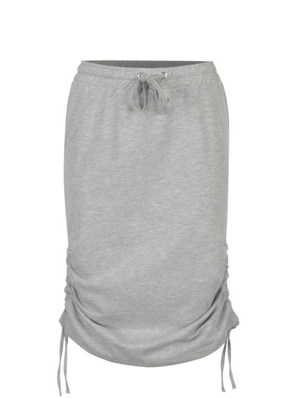 Svetlosivá melírovaná sukňa s riasením Noisy May Marais