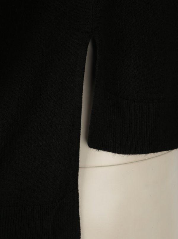 Čierny sveter s predĺženým zadným dielom Noisy May Chen