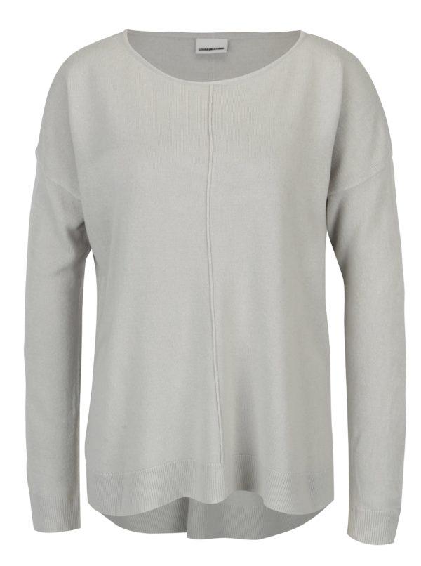 Svetlosivý sveter s predĺženým zadným dielom Noisy May Chen