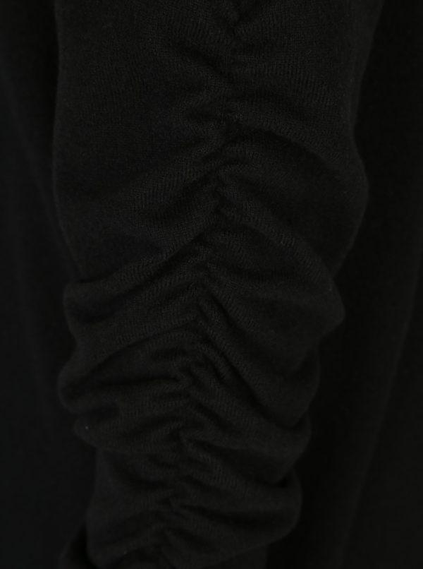 Čierne tenké svetrové šaty Noisy May Chrystal