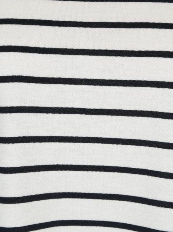 Biele pruhované tričko s dlhým rukávom VERO MODA Nira