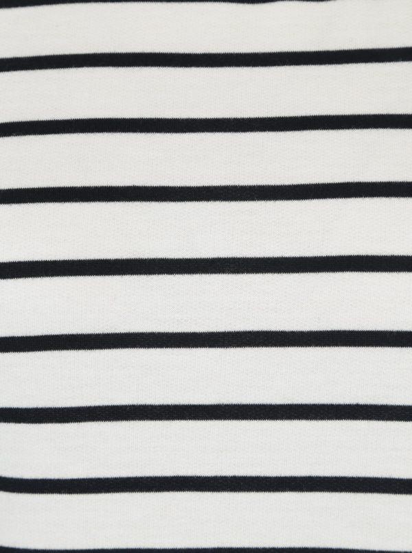 Biele pruhované šaty s 3/4 rukávom VERO MODA Nira
