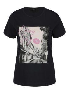 Tmavomodré tričko s potlačou VERO MODA Nelik