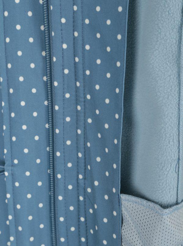 Modrý nepremokavý bodkovaný kabát Blutsgeschwister