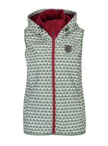 Bielo–zelená nepremokavá vzorovaná vesta Blutsgeschwister