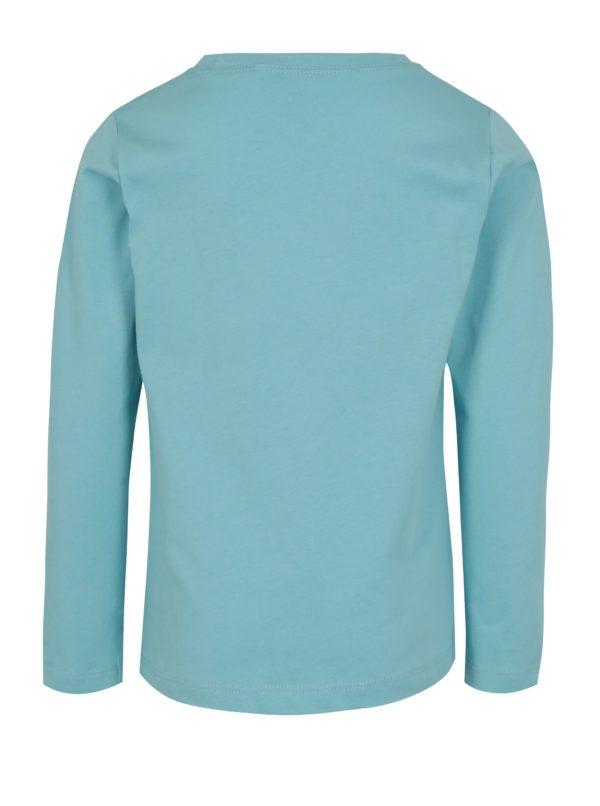Svetlomodré chlapčenské tričko s potlačou a dlhým rukávom name it Victor