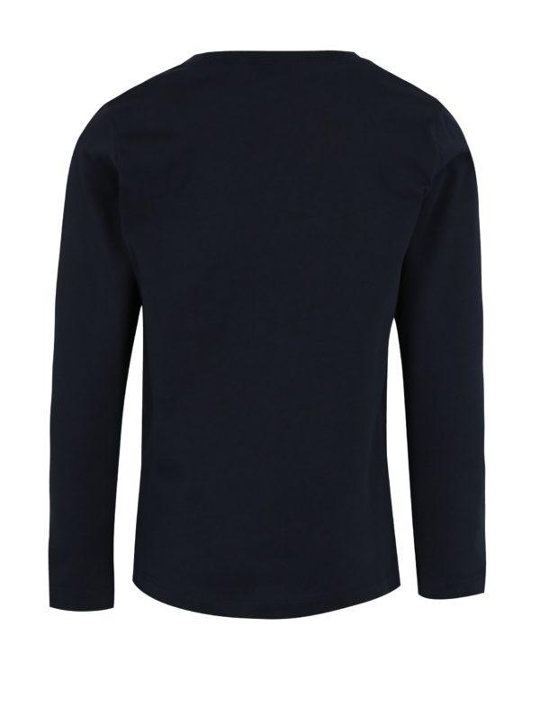 Tmavomodré chlapčenské tričko s dlhým rukávom name it Victor
