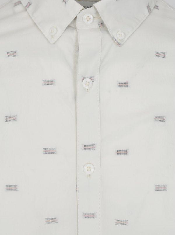 Krémová vzorovaná slim fit košeľa Farah Stovin