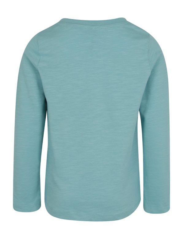 Svetlomodré chlapčenské tričko s potlačou name it Jejur