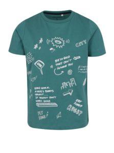 Tmavozelené chlapčenské tričko s potlačou name it Jarlo
