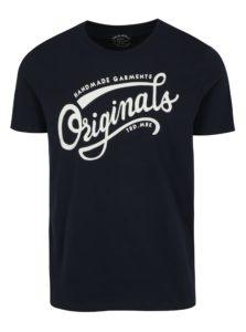 Tmavomodré tričko s potlačou Jack & Jones New Raffa