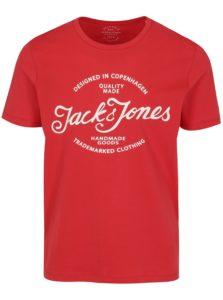 Červené tričko s potlačou Jack & Jones New Raffa