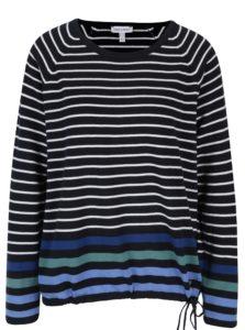 Bielo–modrý pruhovaný krátky sveter Gina Laura