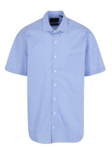 Svetlomodrá comfort fit košeľa s krátkym rukávom JP 1880