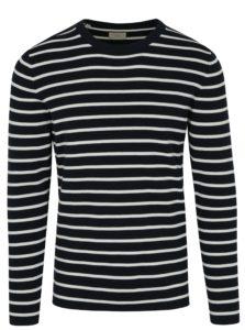 Tmavomodrý pruhovaný sveter Selected Homme Sailor