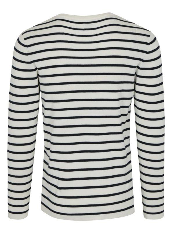 Krémový pruhovaný sveter Selected Homme Sailor