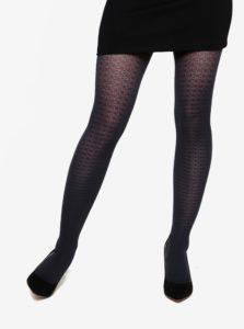 Tmavomodré štruktúrované pančuchové nohavice Gipsy