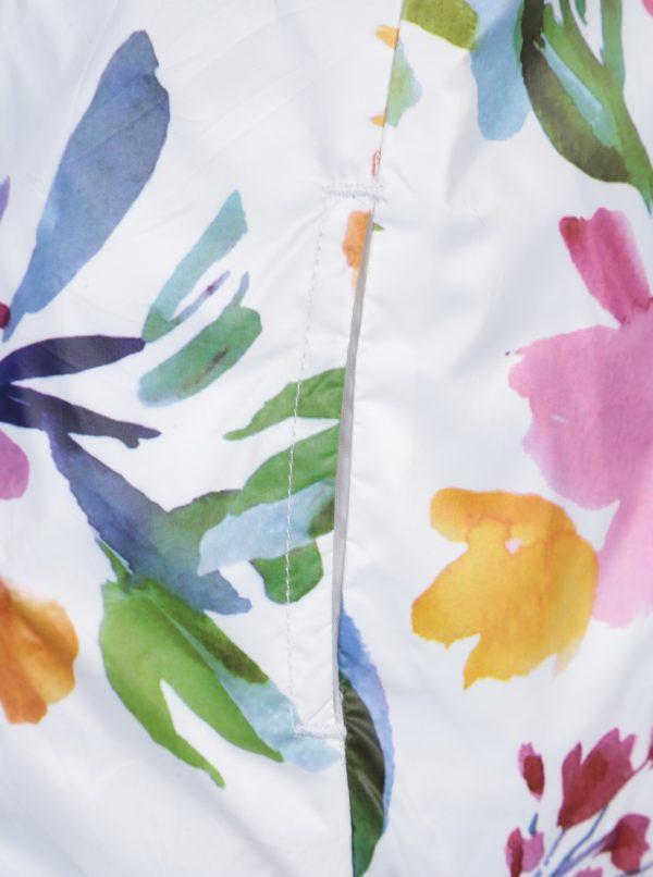 Biela kvetovaná dievčenská obojstranná bunda Bóboli