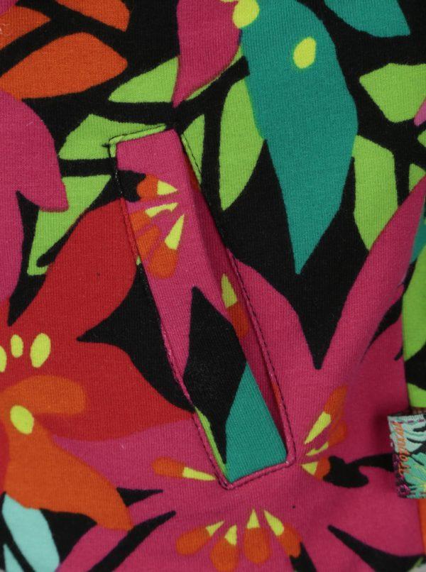 Ružovo-zelená dievčenská vzorovaná mikina Bóboli