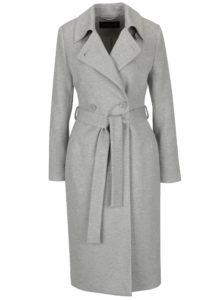 Sivý melírovaný dámsky kabát Pietro Filipi
