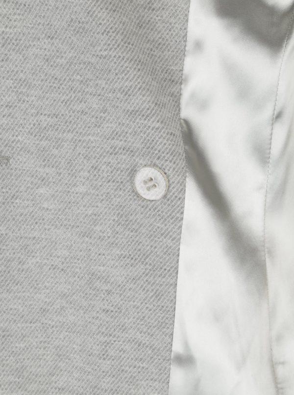 e90d720420 Sivý melírovaný dámsky kabát Pietro Filipi