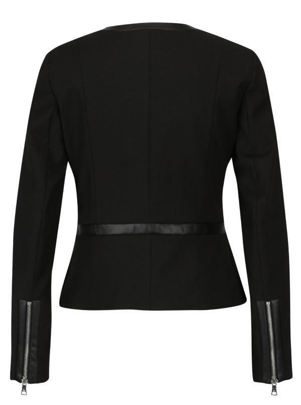 Čierne dámske sako na zips Pietro Filipi