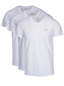 Súprava troch tričiek pod košeľu s véčkovým výstrihom v bielej farbe Diesel