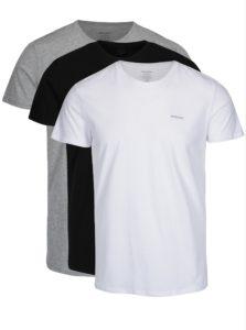 Súprava troch tričiek pod košeľu v bielej, čiernej a sivej farbe Diesel