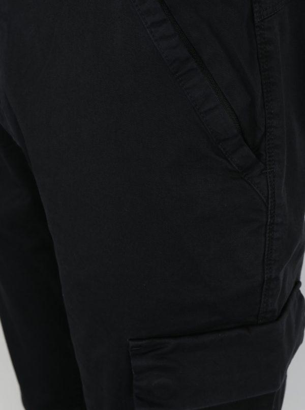 Čierne pánske nohavice s vreckami Calvin Klein Gravel