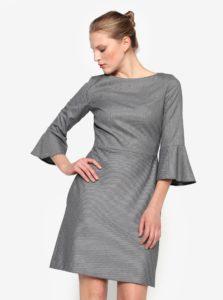 Sivé šaty so zvonovými rukávmi Pietro Filipi