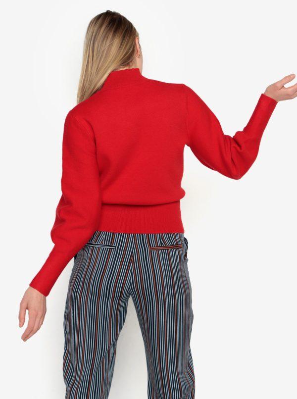 Červený sveter s balónovými rukávmi Selected Femme Tanja