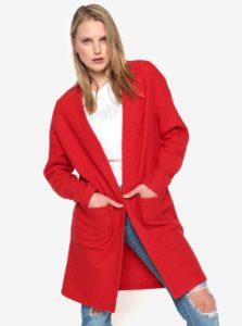 Červený vlnený kardigán Selected Femme Darla
