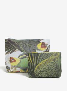 Súprava dvoch kozmetických taštičiek s motívom papagájov Magpie Parrot
