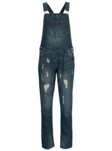 Tmavomodré rifľové nohavice na traky Jacqueline de Yong Mace