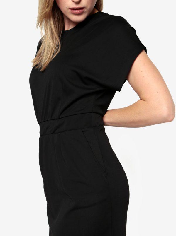 Čierne šaty s krátkym rukávom Selected Femme Mella