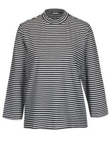 Bielo-čierne pruhované tričko Jacqueline de Yong Gana