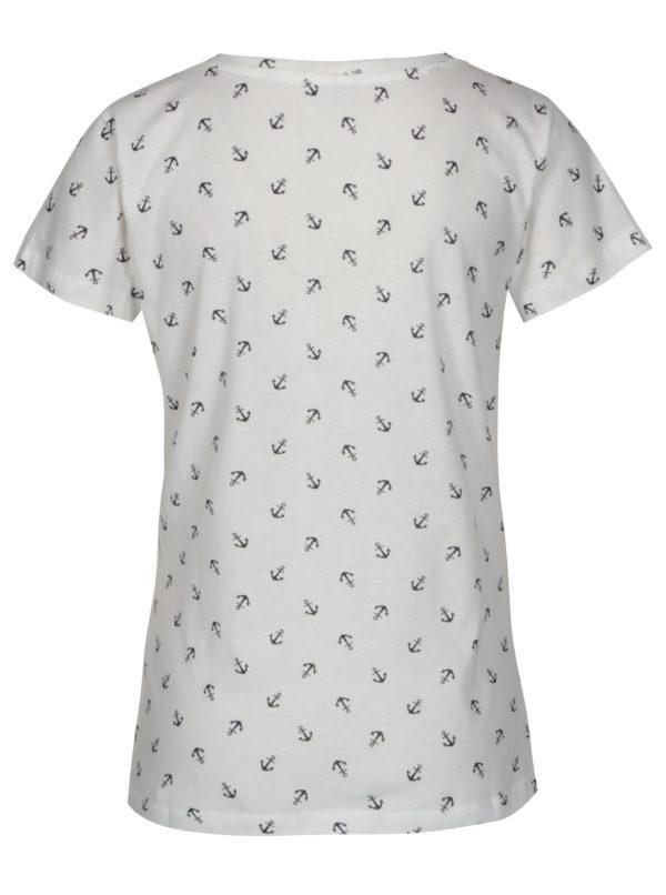 Krémové tričko s potlačou Jacqueline de Yong Anina