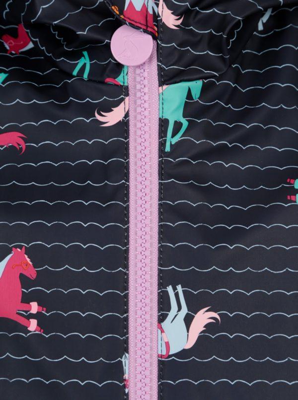 Tmavomodrý dievčenský pršiplásť s potlačou Tom Joule Raindance