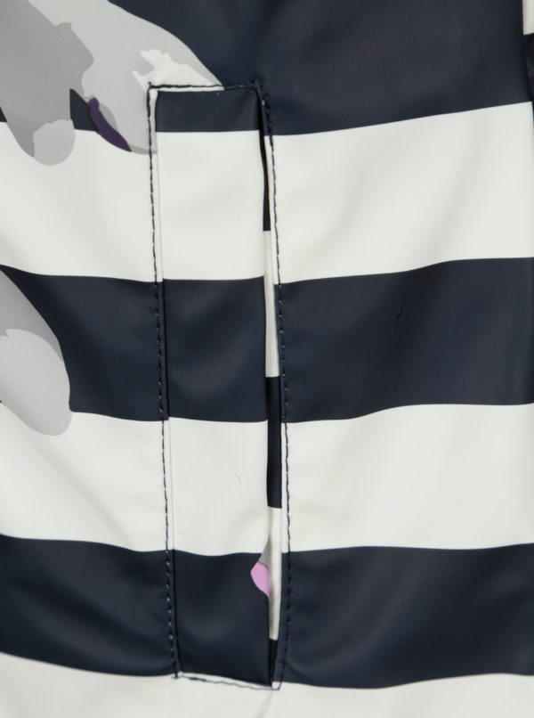 Krémovo-modrá pruhovaná pláštenka Tom Joule Raindance