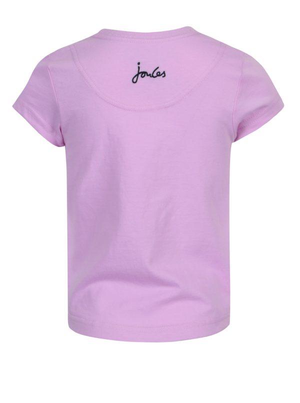 Fialové dievčenské tričko s potlačou Tom Joule Pixie