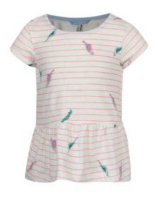 Ružovo-krémové dievčenské tričko Tom Joule Lil