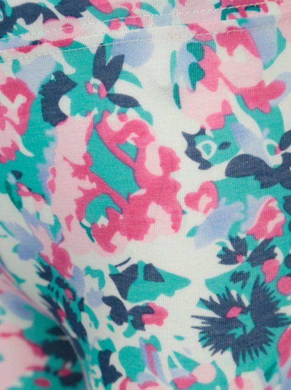 Krémové kvetované dievčenské legíny Tom Joule Deedee
