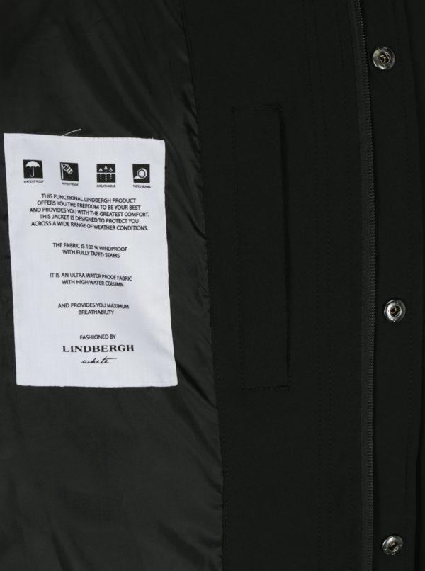 Čierny vodovzdorný kabát Lindbergh