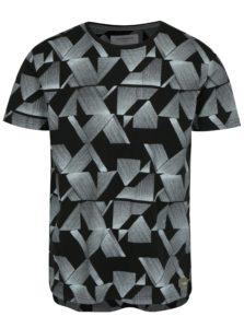 Čierne vzorované tričko Lindbergh