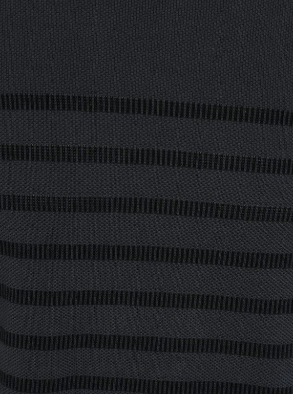 Tmavosivý pánsky pruhovaný sveter s.Oliver