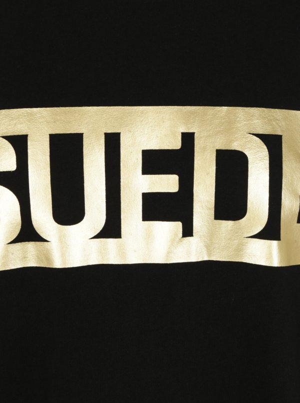 b5190c0ca338 Čierne pánske tričko s potlačou v zlatej farbe Puma