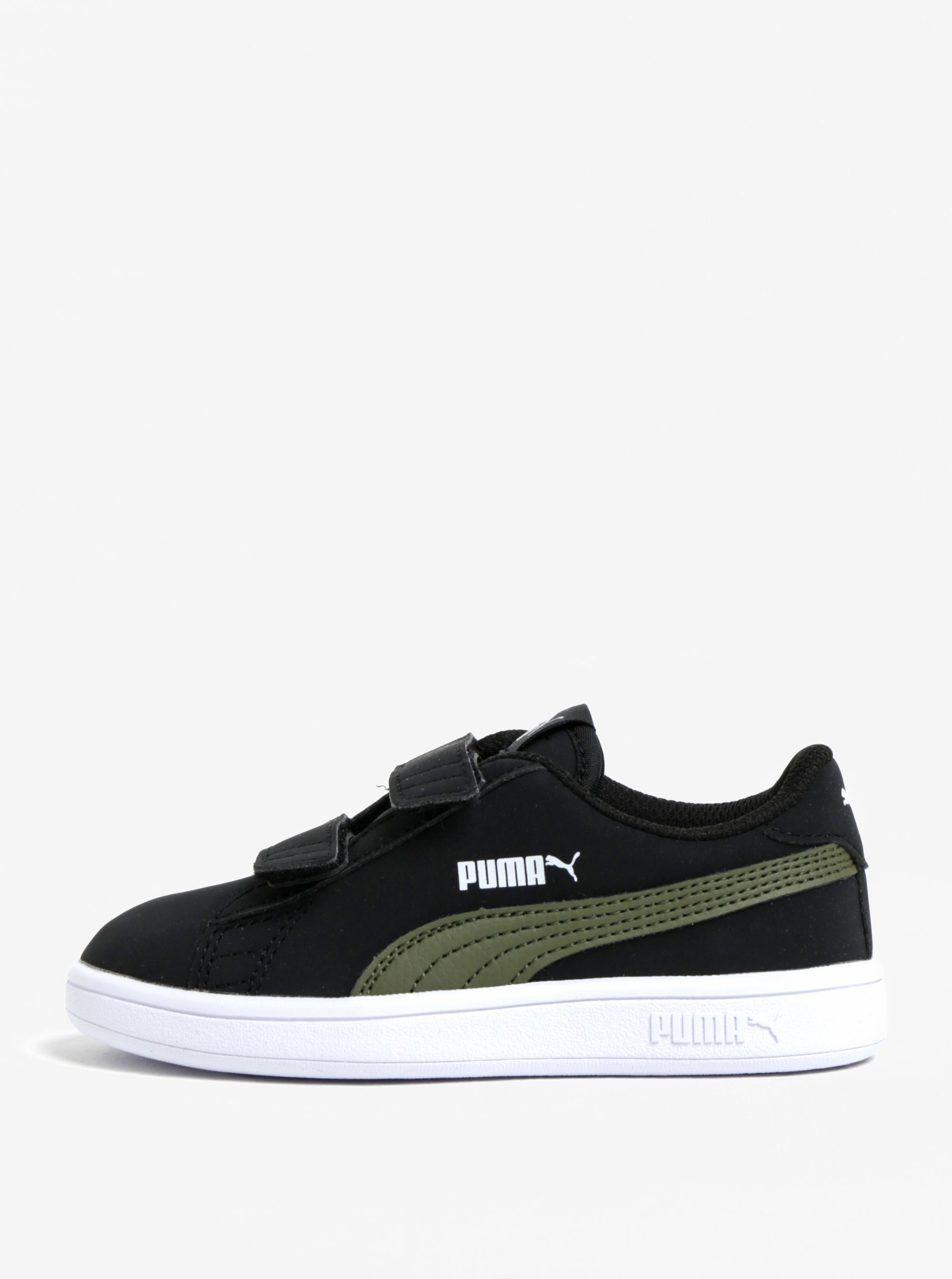 Čierne chlapčenské tenisky na suchý zips Puma  eb97cf55174