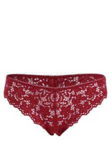 Červené čipkované tangá DKNY