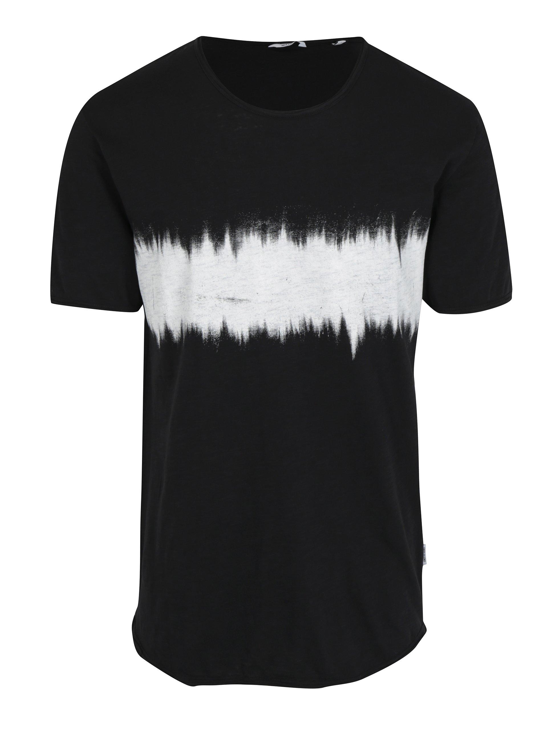 f3b5d44dd4c4 Čierne dlhé tričko s potlačou ONLY   SONS Samuel